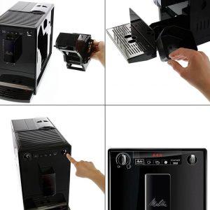 utilisation de la machine à café avec broyeur Melitta E950-222