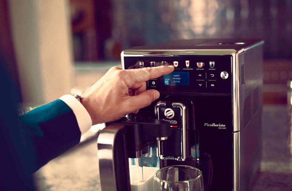 interface machine à café automatique Saeco PicoBaristo Deluxe